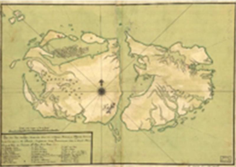 Mapa antiguo de Malvinas