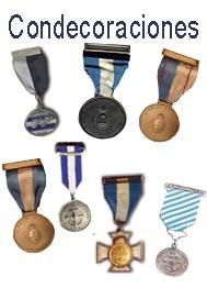 Listado de condecoraciones