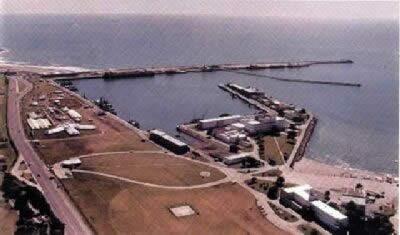 Vista aérea de la Base Naval de Mar del Plata